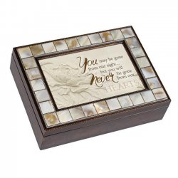 Dicksons MP30A Breavement Mother of Pearl Music Box - You May Be Gone From Our Sight