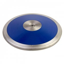 1.62 kg Lo Spin Competition ABS Plastic Discus, Royal Blue & Silver
