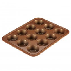 Ayesha Curry 47002 12-Cup Muffin Pan, Copper