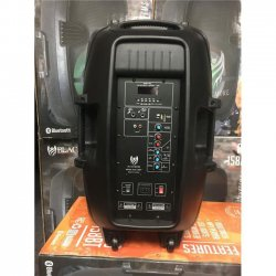 Blackmore Pro Audio BJS-158BT 15 in. Portable & Amplified 2 Way Professional Loudspeaker with Woofer, Bluetooth, Mp3 Playback LED Lighting