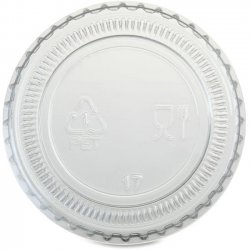 1 oz Portion Cup Lid - Translucent & Clear
