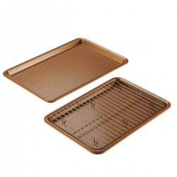 Ayesha Curry 47072 Cookie Pan Set, Copper - 3 Piece