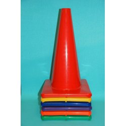 18 Inch Vinyl Cone with Square Base