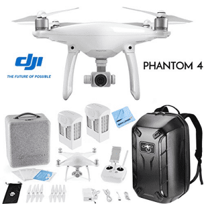 DJI Phantom 4 Starter Bundle Includes GPS
