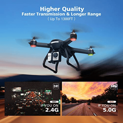 Holy Stone HS700 FPV Drone 1080p HD Camera Live Video GPS Return Home, RC Quadcopter Adults Beginners Brushless Motor, Follow Me, 5G WiFi Transmission